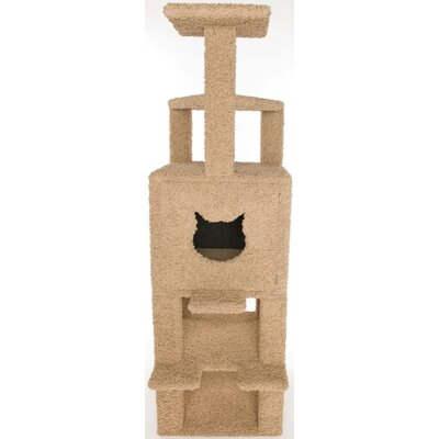 Low Price Posh Kitty Condos Triple Step Triangle Cat Condo And Litter Box Enclosure Door