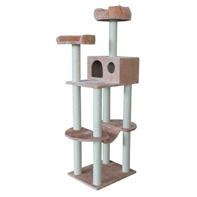 67 Atlanta Cat Tree Color: Beige