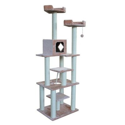 73 Nieman Cat Tree Color: Beige