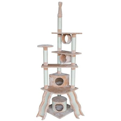 79 Angela Cat Tree Color: Beige