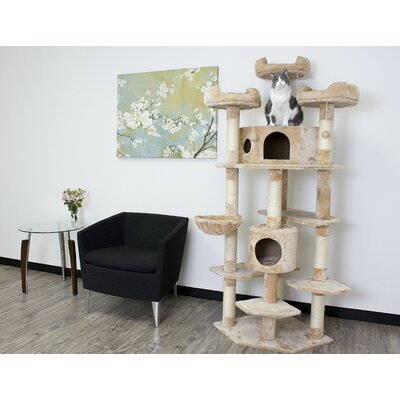 72 Denver Cat Tree Color: Beige