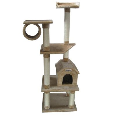 68 Baltimore Cat Tree Color: Beige