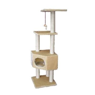 Holyfield 51 Houston Cat Tree Color: Beige