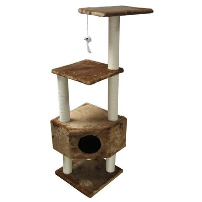 Holyfield 51 Houston Cat Tree Color: Brown