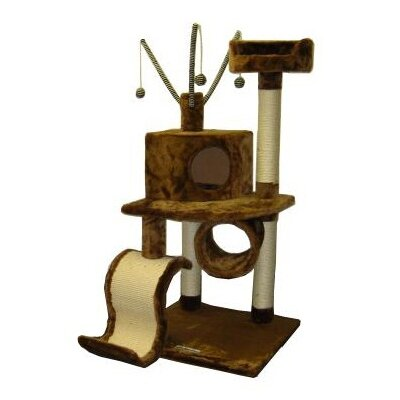 Humbert 48 Memphis Cat Tree Color: Brown