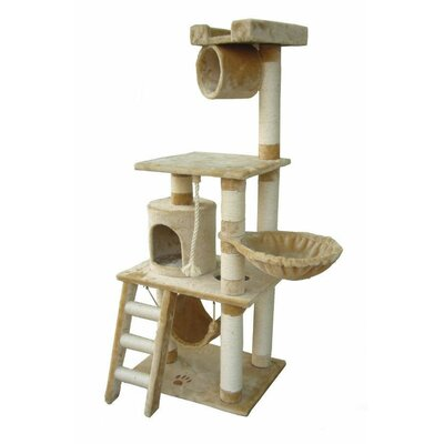 62 Boston Cat Tree Color: Beige