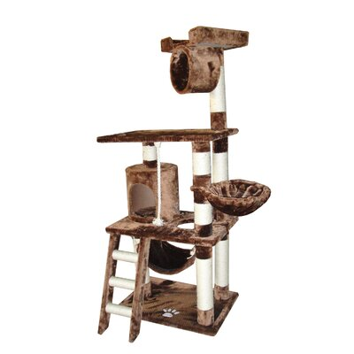 Freya 62 Boston Cat Tree Color: Brown