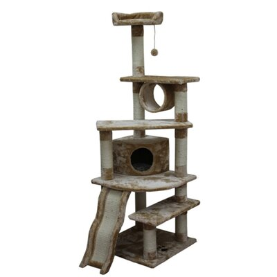 Gemini 71 Shanghai Cat Tree Color: Beige