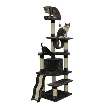 Gemini 71 Shanghai Cat Tree Color: Gray