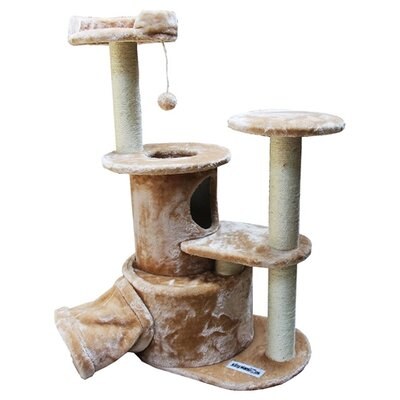 50 Nicolette Cat Tree Color: Beige