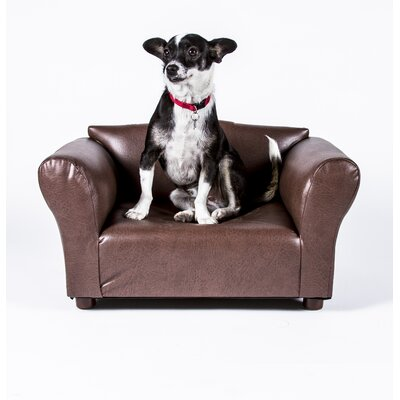 Mini Dog Sofa Color: Brown