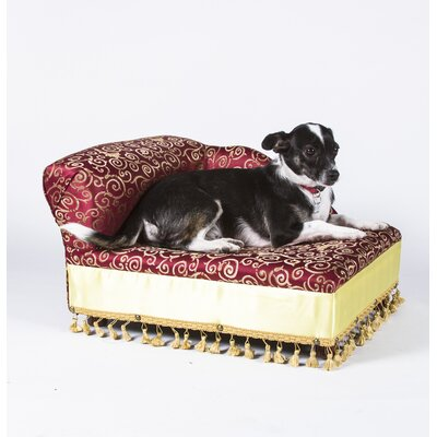 Mini Dog Chaise Elegant Color: Red