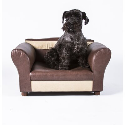 Two-Toned Mini Dog Sofa Color: Brown and Beige