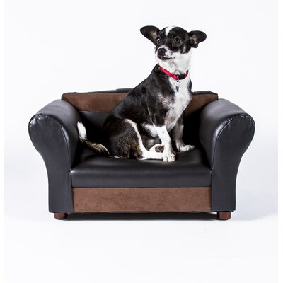 Two-Toned Mini Dog Sofa Color: Black and Brown