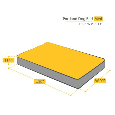 Portland Dog Bed Size: Medium (30 L x 20 W)