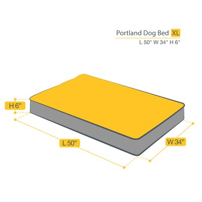 Portland Dog Bed Size: Extra Large (50 L x 34 W)