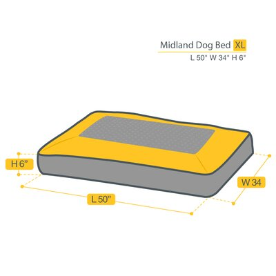 Midland Dog Bed Size: Extra Large (50 L x 34 W)