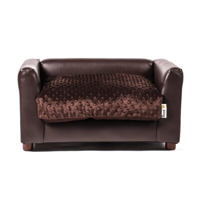 Deluxe Fluffy Dog Sofa Size: Small (23 L x 17 W)