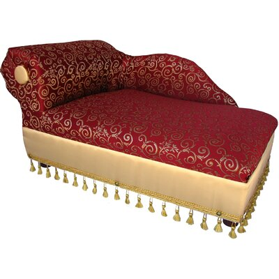 Cleopatra Dog Chaise Elegant Color: Red