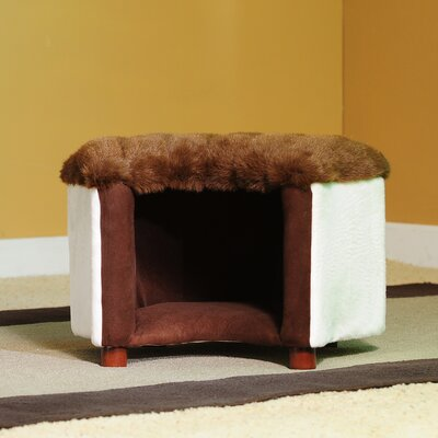 Cat Silhouette Pet Bed Color: Mink