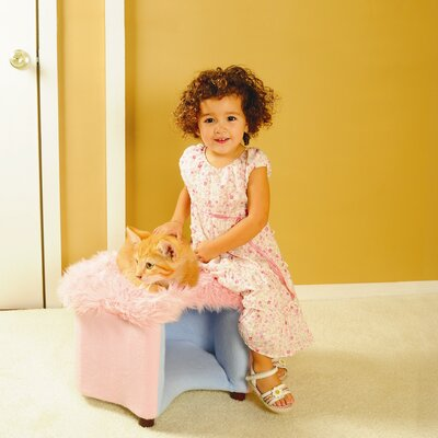 Cat Silhouette Pet Bed Color: Pink
