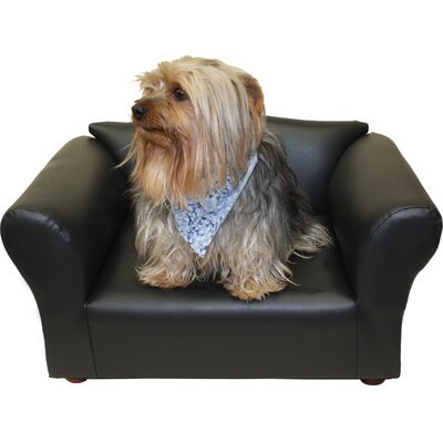 Mini Dog Sofa Color: Black