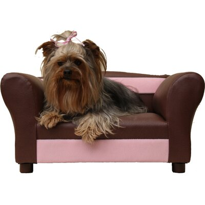 Two-Toned Mini Dog Sofa Color: Sweet Brown