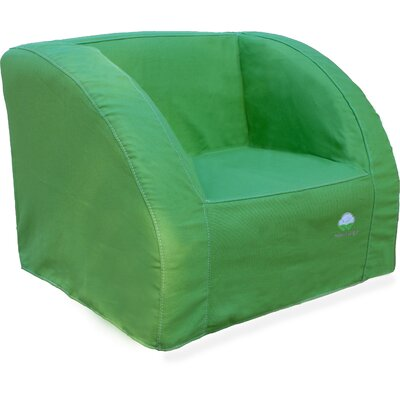 Pure Organic Slipcover Kid's Club Chair Color: Green, Size: Small