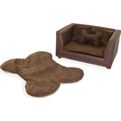 Deluxe Orthopedic Memory Foam Dog Chair Set Color: Brown, Size: Medium (28 L x 17 W)