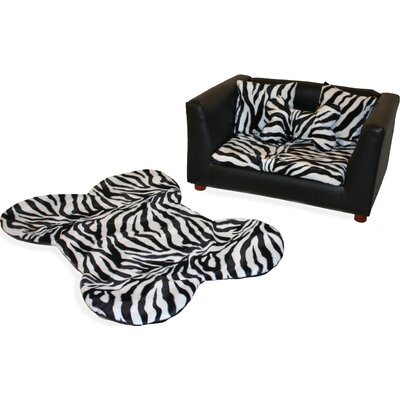 Deluxe Orthopedic Zebra Memory Foam Dog Chair Set Size: Medium (28 L x 17 W)