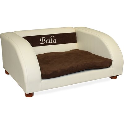 Premium Personalized Orthopedic Memory Foam Dog Chair Color: Beige