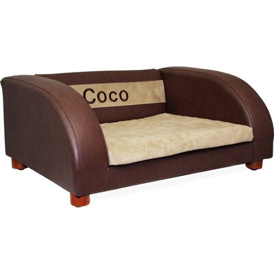 Premium Personalized Orthopedic Memory Foam Dog Chair Color: Brown