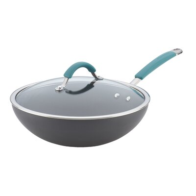 "Rachael Ray Cucina 11"" Non-Stick Wok with Lid 87644"