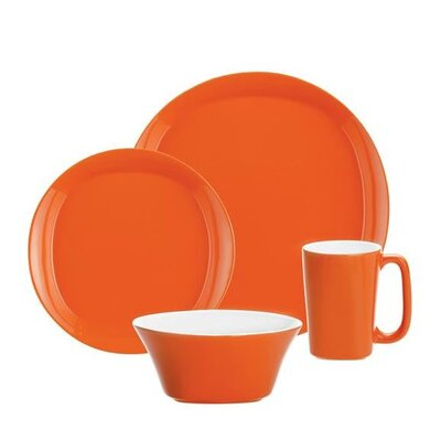 Dinnerware 4 Piece Place Setting Color: Orange