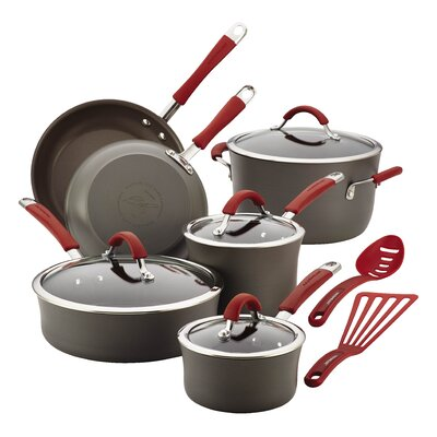 Rachael Ray Cucina Hard-Anodized Non-Stick 12 Piece Cookware Set 87630
