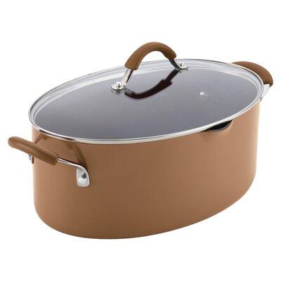Cucina 8 Qt. Stock Pot with Lid Color: Mushroom Brown 16337