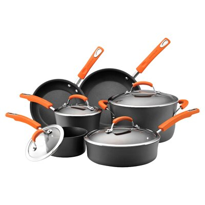 Rachael Ray Hard-Anodized Non-Stick 10 Piece Cookware Set 87375