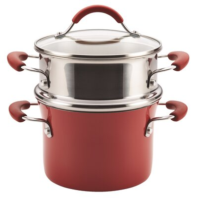 Cucina 3 Qt. Multi-Pot Color: Cranberry Red 16800
