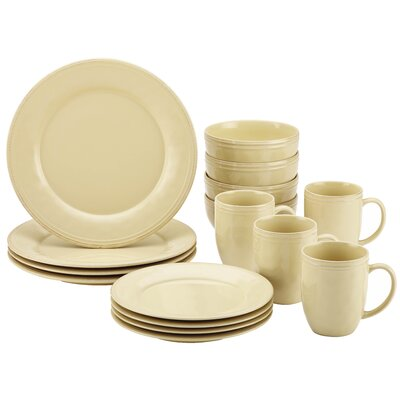 Cucina 16 Piece Dinnerware Set Color: Almond Cream 55094