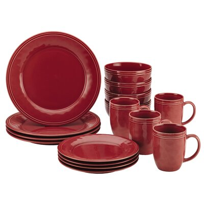 Cucina 16 Piece Dinnerware Set Color: Cranberry Red 55096