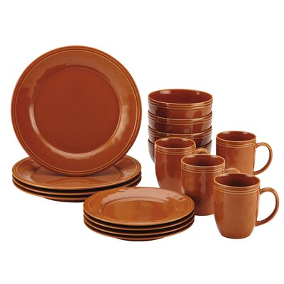Cucina 16 Piece Dinnerware Set Color: Pumpkin Orange 55095