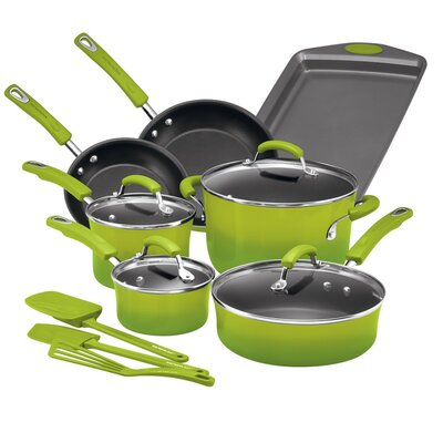 14 Piece Non-Stick Cookware Set Color: Green Gradient 17506