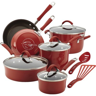 Cucina 12 Piece Cookware Set Color: Cranberry Red 16339