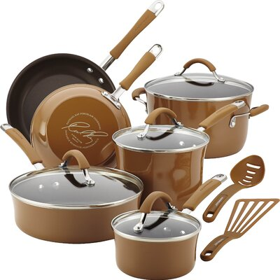 Cucina 12 Piece Cookware Set Color: Mushroom Brown 16333