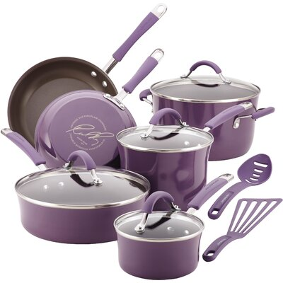 Cucina 12 Piece Cookware Set Color: Lavender Purple 16783
