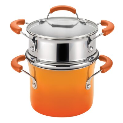 Rachael Ray Porcelain Nonstick 3 Qt. Covered Multi-Pot 14484