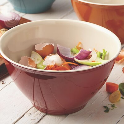 Cucina Pantryware Melamine Garbage Bowl Color: Cranberry Red 51991