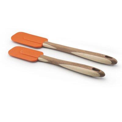 Two Piece Bamboo Spatula Set