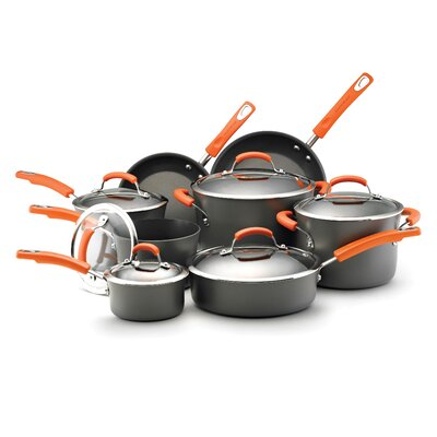 Rachael Ray Hard Anodized Nonstick 14 Piece Cookware Set 87000