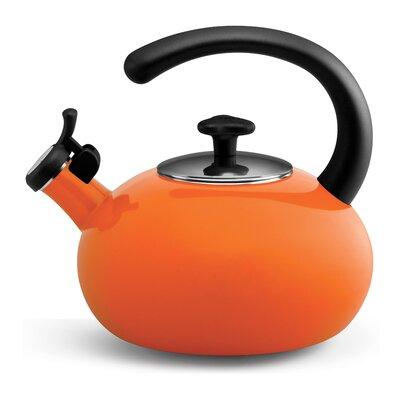 Whistling Stovetop Kettle Color: Orange, Capacity: 1.50 Qt. 54934